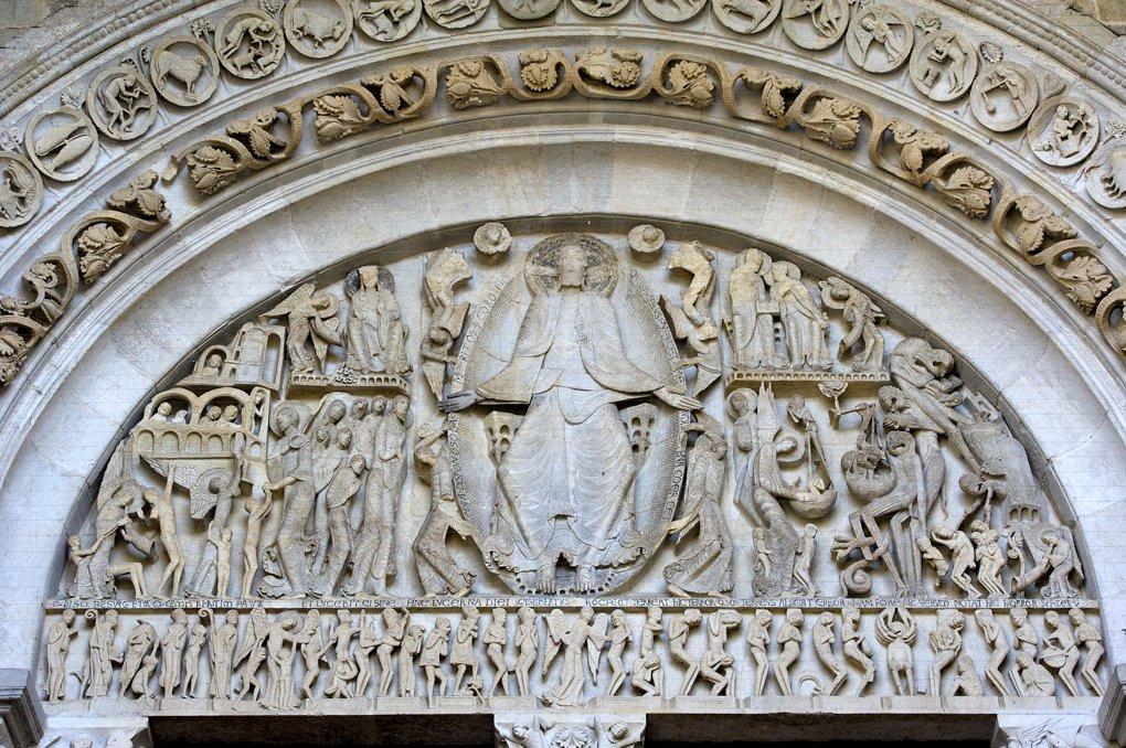 Autun - Tympan central (sculpteur Gislebertus ? - v. 1140)