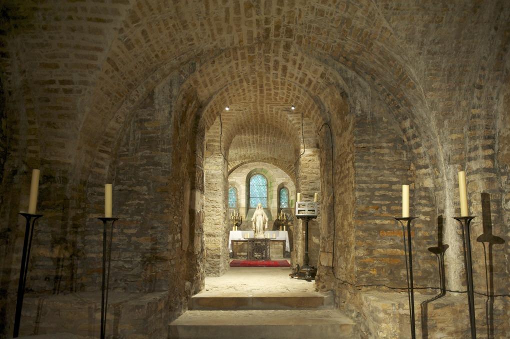 Dijon - Abbaye Saint-Bénigne -Oratoire Sainte-Marie (IXe-XIIe siècle)