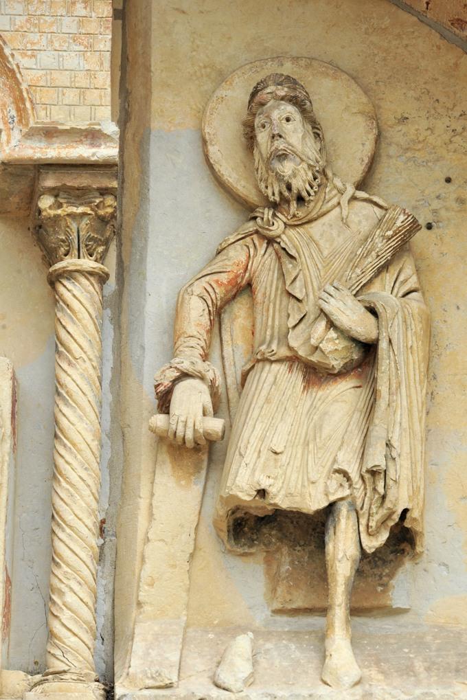 Donzy - Donzy-le-Pré - Tympan : le prophète Isaïe (milieu XIIe siècle)