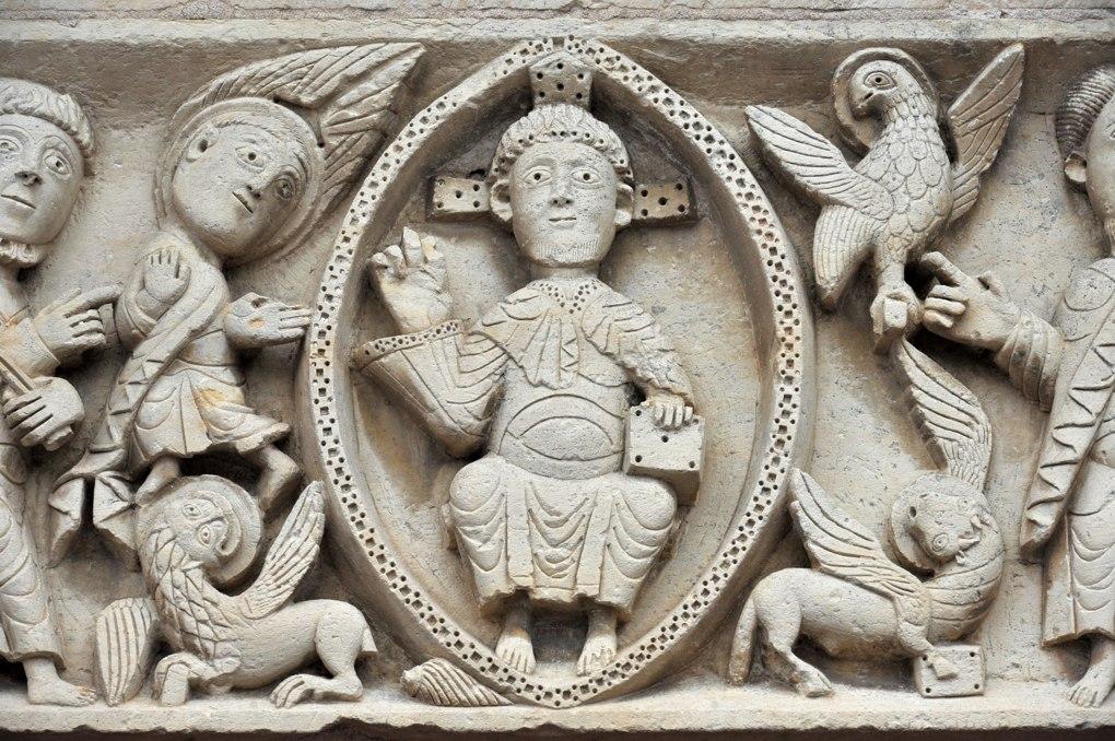 Mars-sur-Allier : Le Christ en Gloire et le Tétramorphe (XIIe siècle)