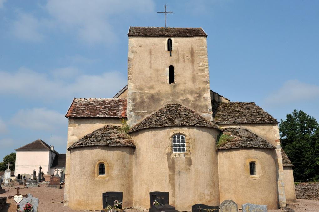 La Motte-Ternant - Eglise Saint-Martin (XIe-XIIe siècle) - Abside et clocher