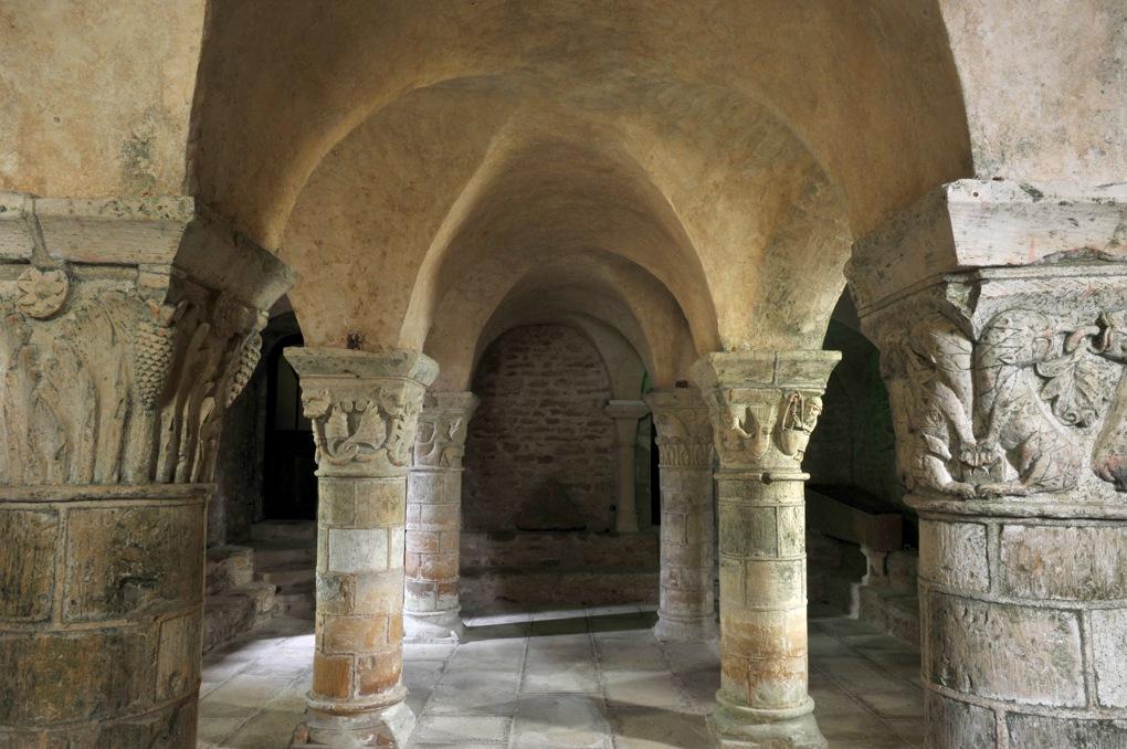 Saint-Parize-le-Châtel - La crypte (v. 1115-1120)