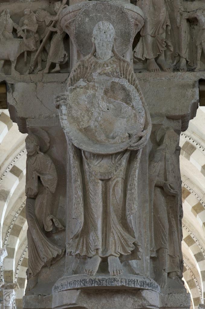 Vézelay-Abbatiale Sainte-Madeleine-Portail central de la nef - Saint-Jean-Baptiste (v. 1130)