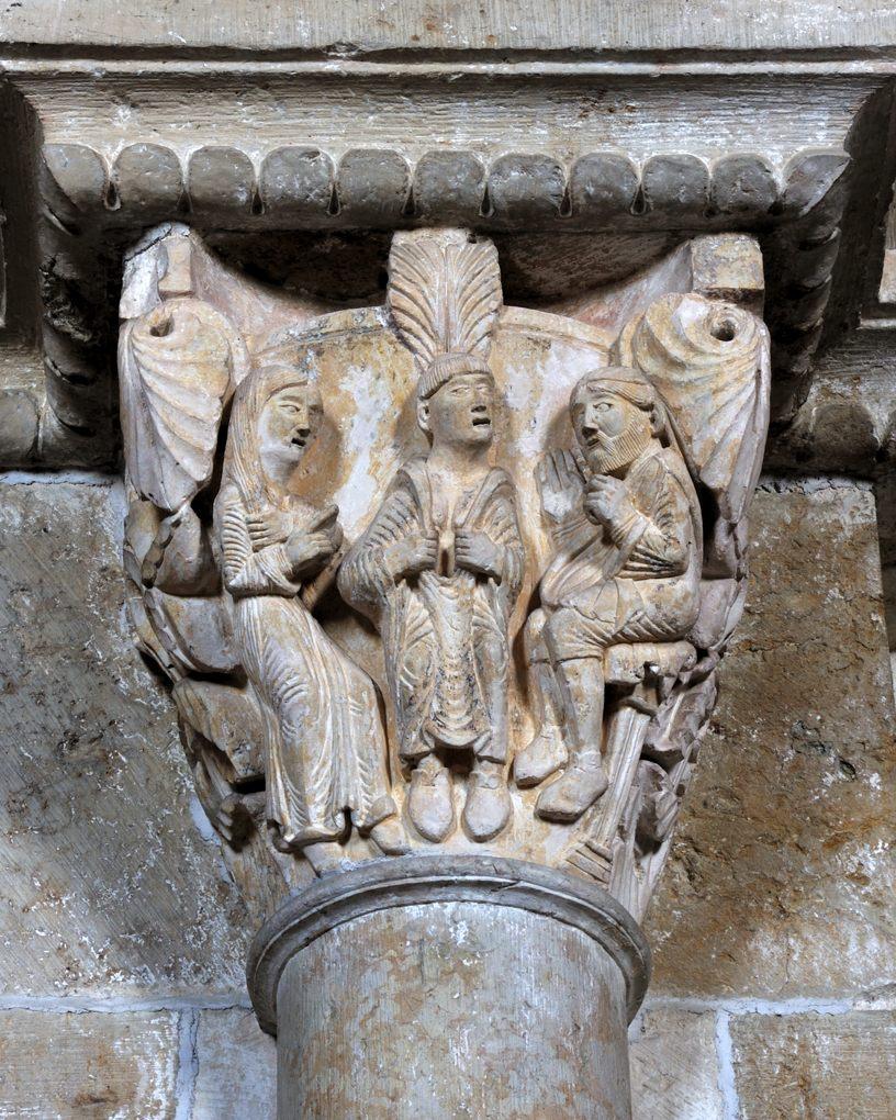 Vézelay - Chapiteau de la nef - Collatéral nord : la légende de sainte Eugénie