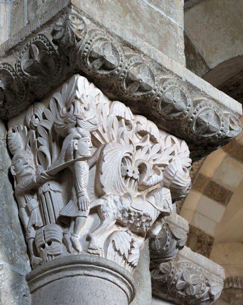 Vézelay - Chapiteau de la nef - Collatéral nord : la mort d'Absalom