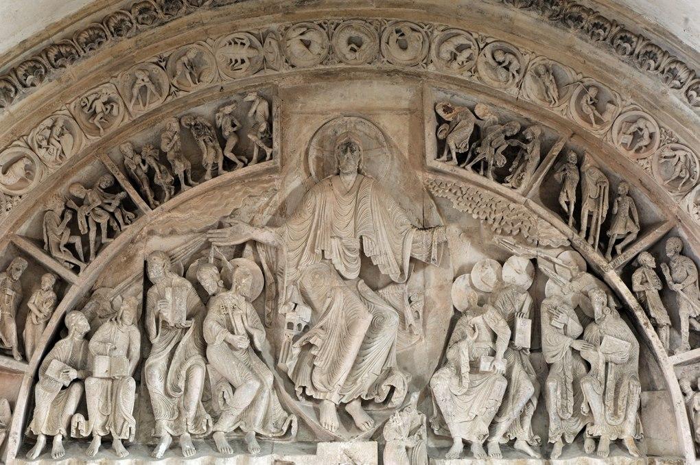 Vézelay - Tympan central de la nef (v. 1130)