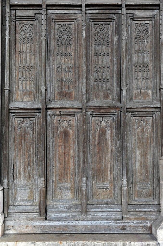 Beaune - Collégiale Notre-Dame - Vantaux des portails occidentaux (4e quart du XVe siècle)