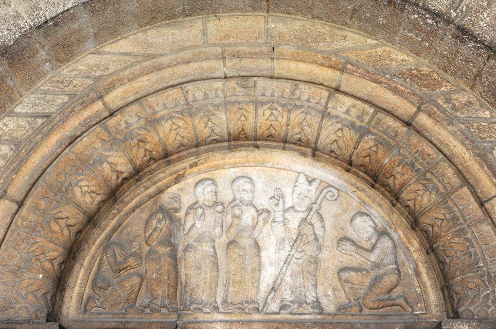 Beaune - Eglise Saint-Nicolas (fin XIIe-XVe siècle) - Le tympan du portail occidental