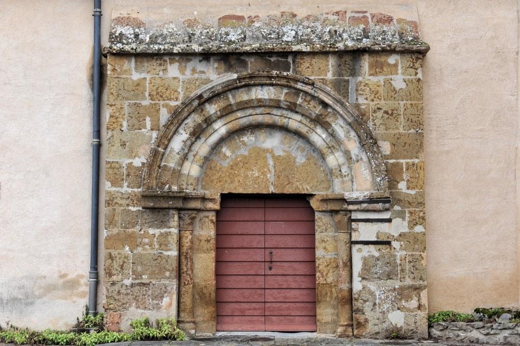 Cervon - Eglise Saint-Barthélémy - Portail sud (XIIe siècle)