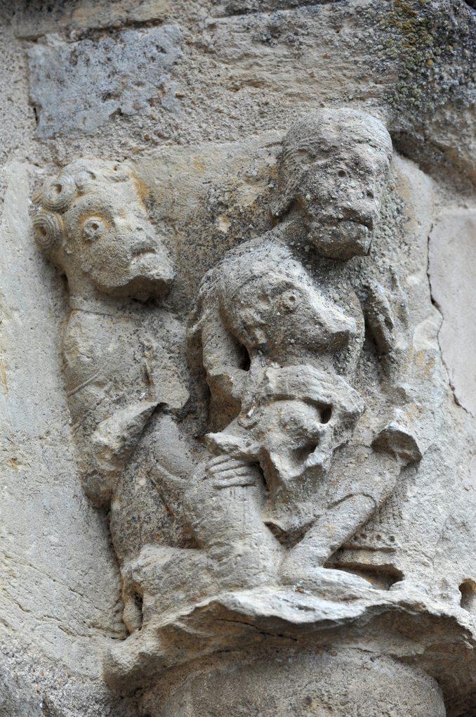 Cervon - Eglise Saint-Barthélémy - Chapiteau du portail occidental (XIIe siècle)