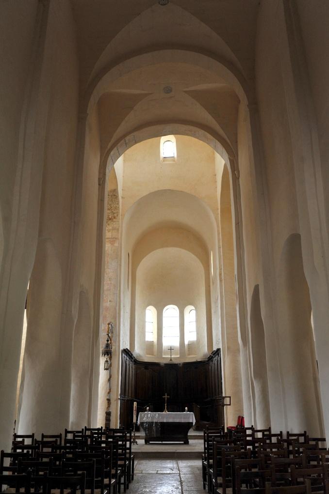 Châtillon-sur-Seine - Eglise Saint-Vorles (XIe siècle) - Vue intérieure
