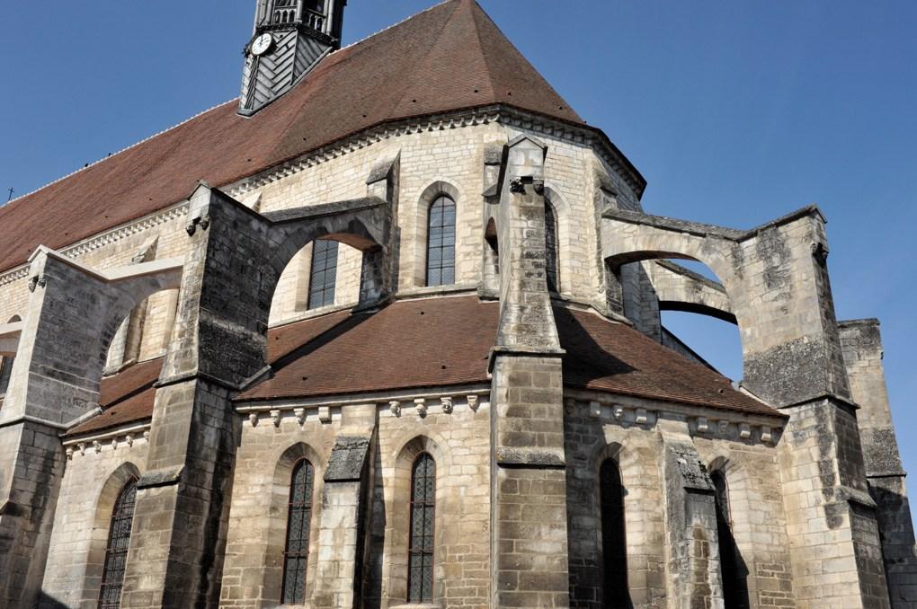 Chablis - Collégiale Saint-Martin - Le chevet