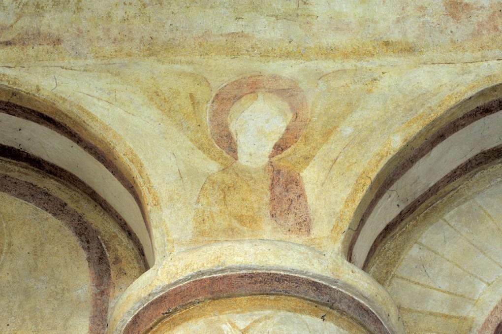 Combertault - Eglise Saint-Hippolyte - Fresques du choeur : ange