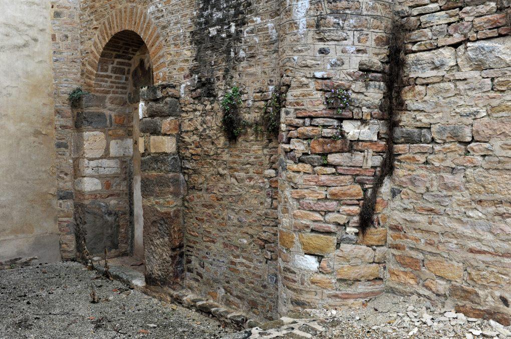 Combertault - Eglise Saint-Hippolyte - Vestiges du collatéral sud (v. 1030)