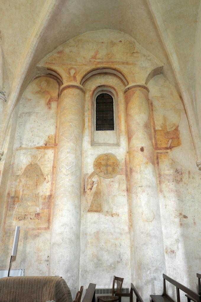 Combertault - Eglise Saint-Hippolyte - fresques du choeur (XIe siècle)