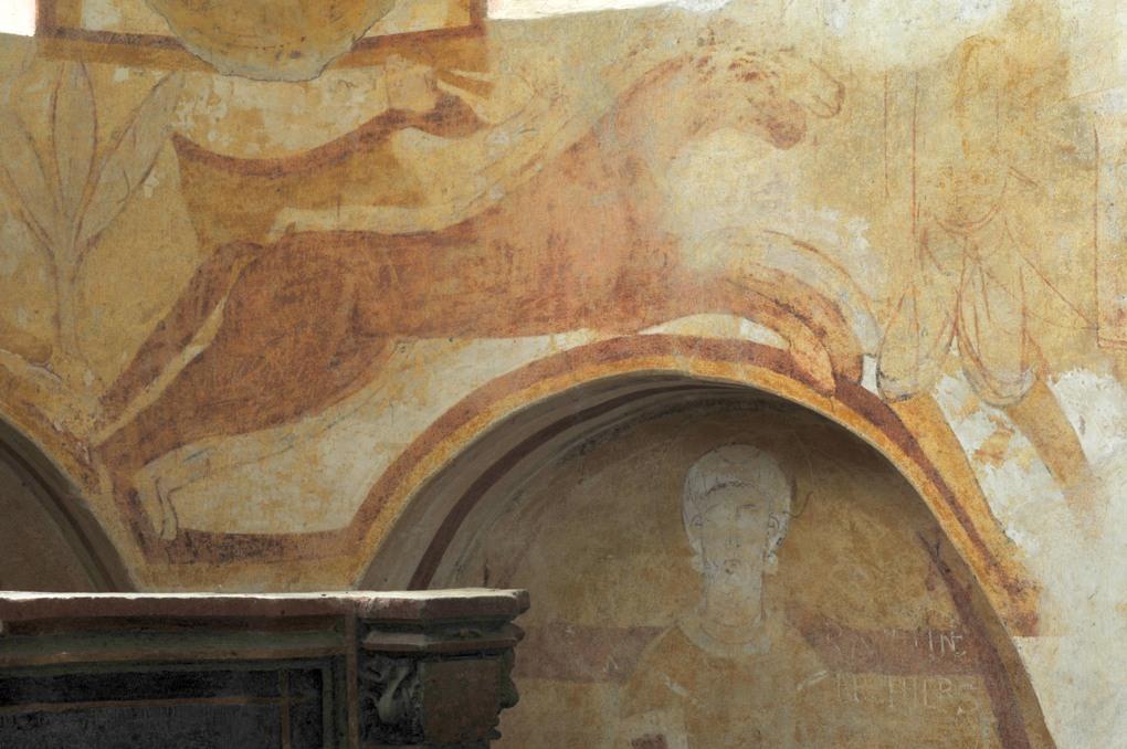 Combertault - Eglise Saint-Hippolyte - Fresques : lion