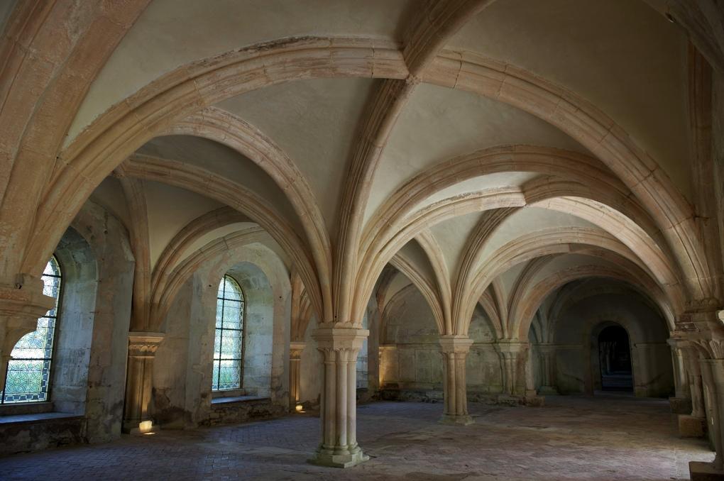 Montbard - Abbaye de Fontenay - Salle des moines - fin XIIe siècle (scriptorium ?)