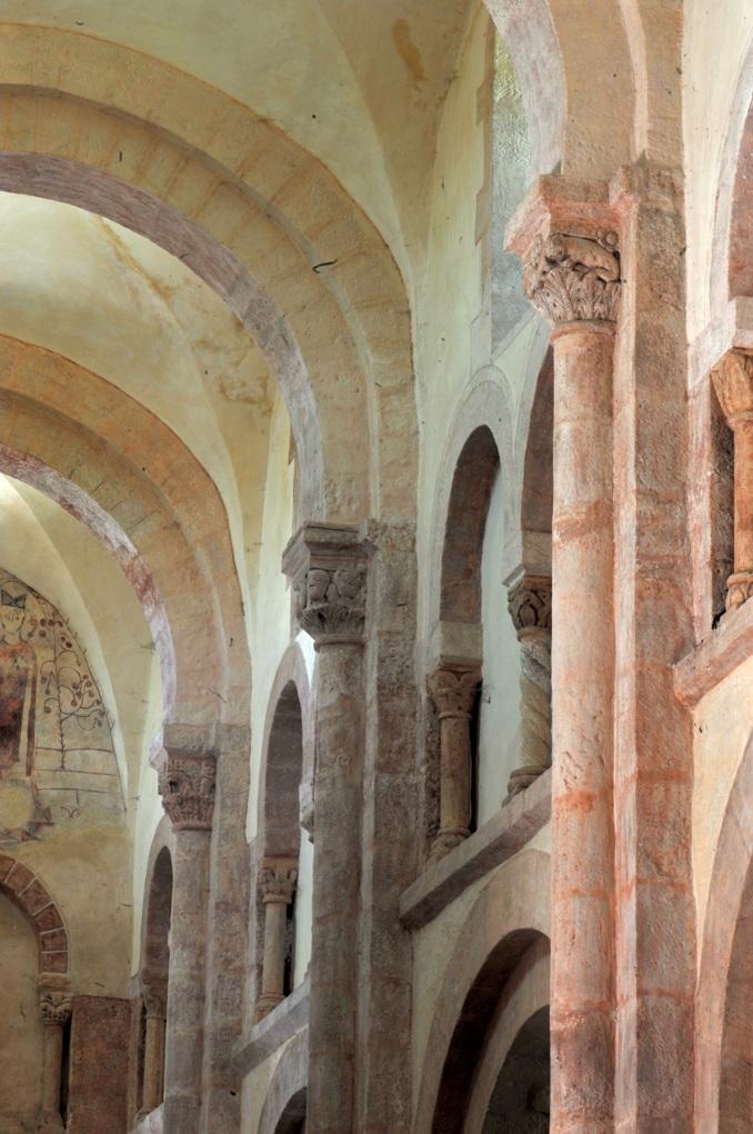 Gourdon - Eglise Notre-Dame-de-l'Assomption (XIIe siècle) - La nef