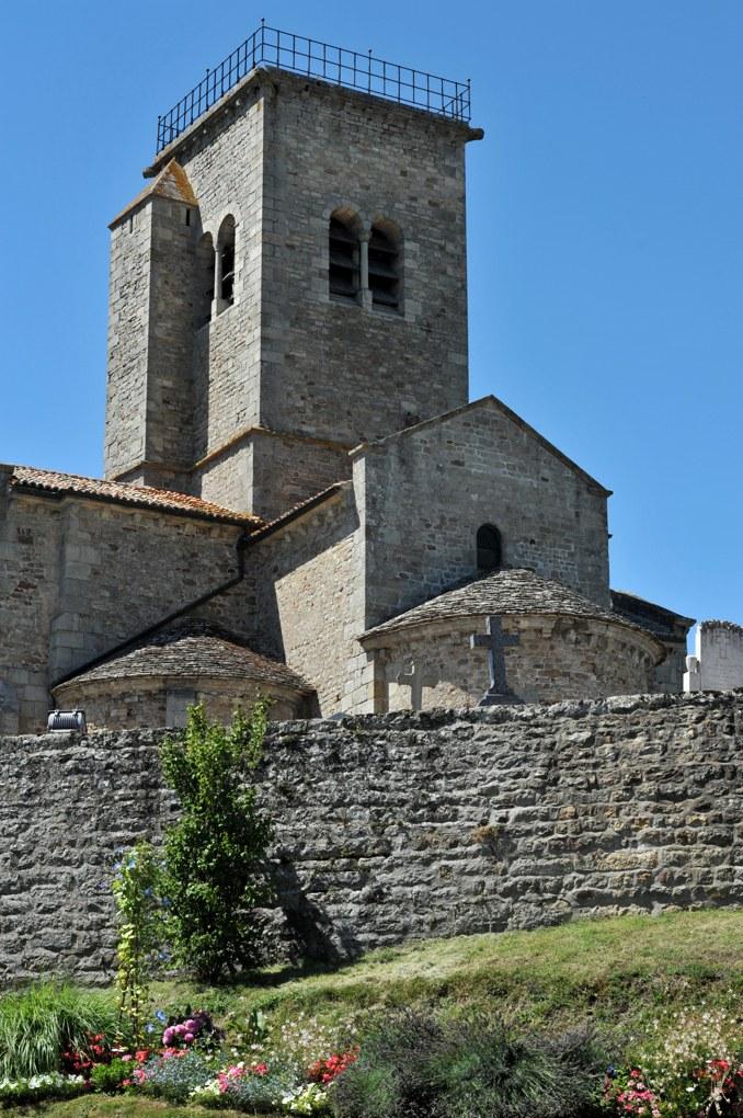Gourdon - Eglise Notre-Dame-de-l'Assomption (XIIe siècle) - Chevet et clocher
