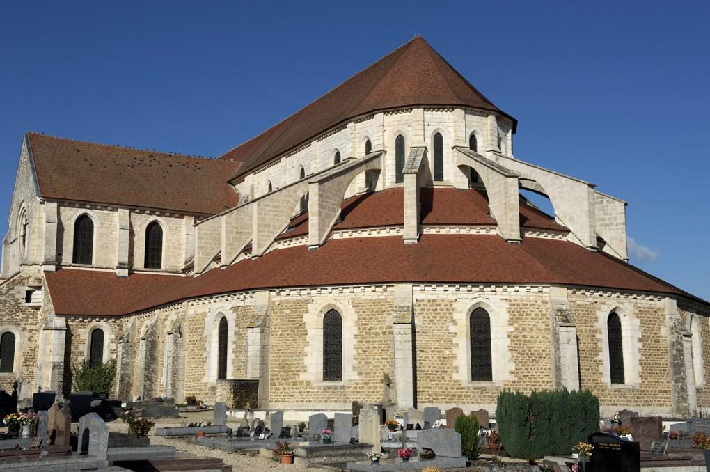Pontigny - L'abbatiale - Le chevet (v. 1180- v. 1212)