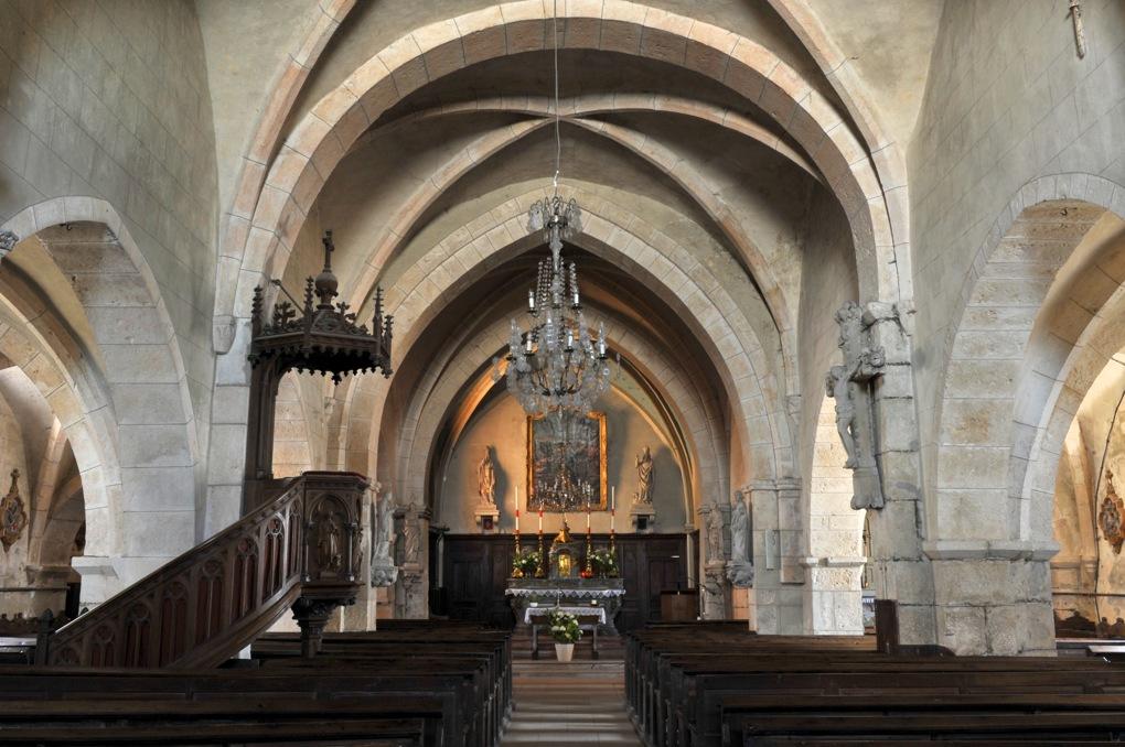 Recey-sur-Ource - Eglise Saint-Remy (fin XIIe siècle) - Nef et choeur