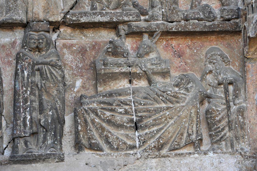 Rougemont - Tympan : Visitation et Nativité