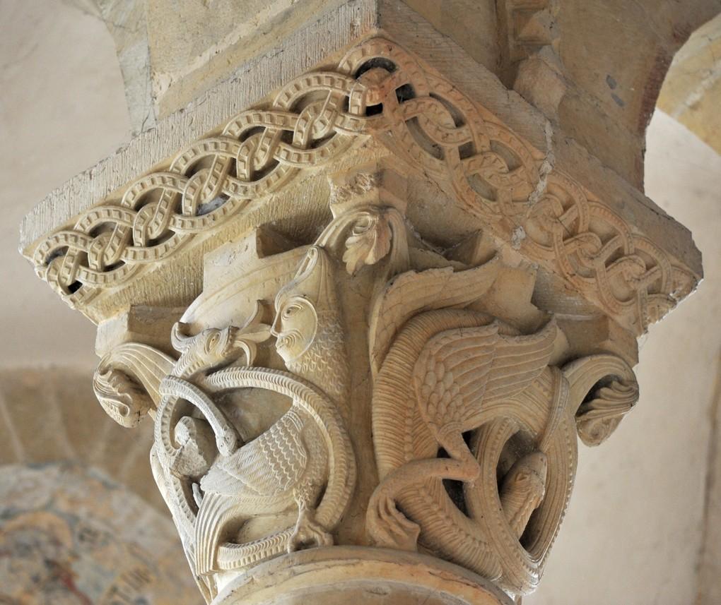 Saint-Révérien - Eglise Saint-Révérien - Chapiteau du rond-point (XIIe siècle)