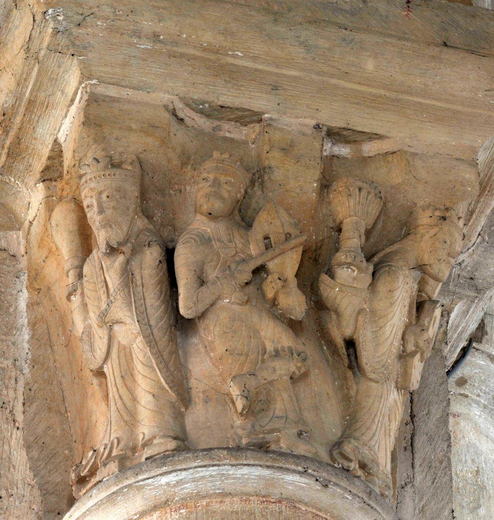 Saint-Révérien - Eglise Saint-Révérien - Chapiteau du choeur (XIIe siècle)