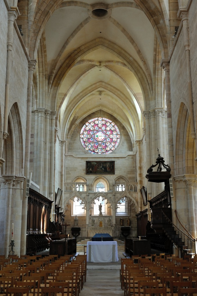 Saint-Seine-l'Abbaye - L'abbatiale (XIIIe-XVe siècle)