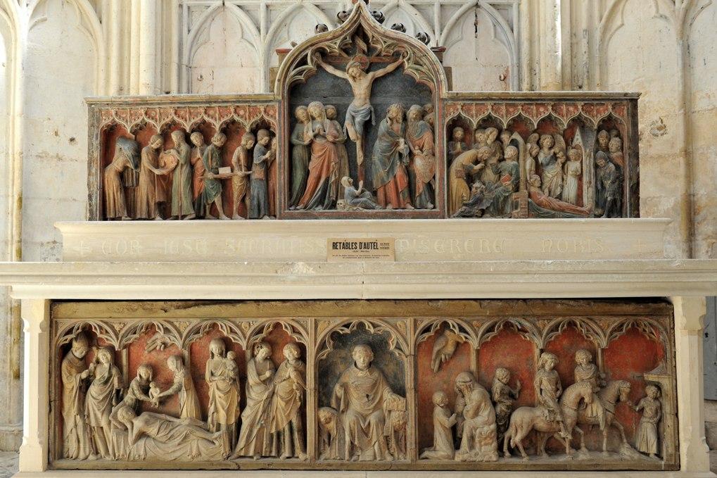 Saint-Thibault - Priorale - Le retable en bois (XIVe siècle)