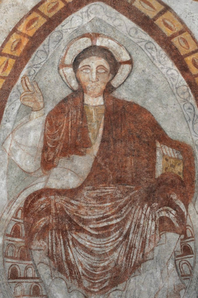 Curgy - Christ en gloire (voûte de l'abside)
