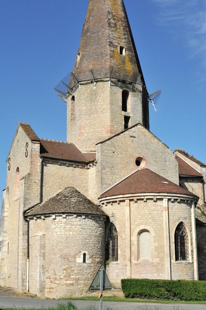 Saint-Christophe-en-Bresse - Eglise romane (fin XIIe siècle)