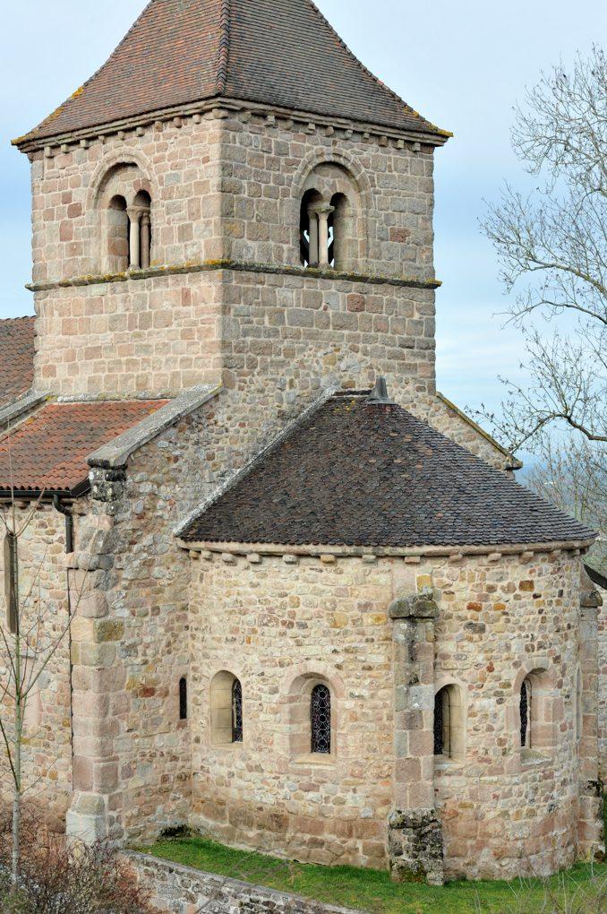 Sanvignes-les-Mines - Eglise Saint-Symphorien - Chevet et clocher