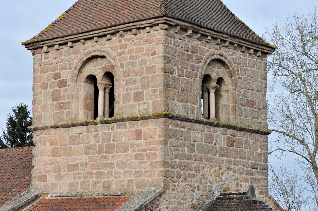 Sanvignes-les-Mines - Eglise Saint-Symphorien - Le clocher (XIIe siècle)