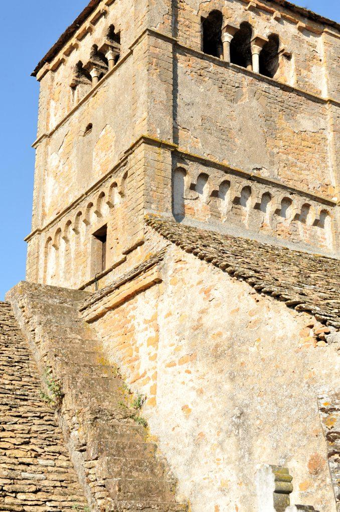 Ameugny - Eglise Notre-dame (XIIe siècle) - Le clocher