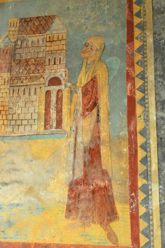 Anzy-le-Duc - Eglise priorale - Fresque de l'abside : Altasie épouse de Letbald