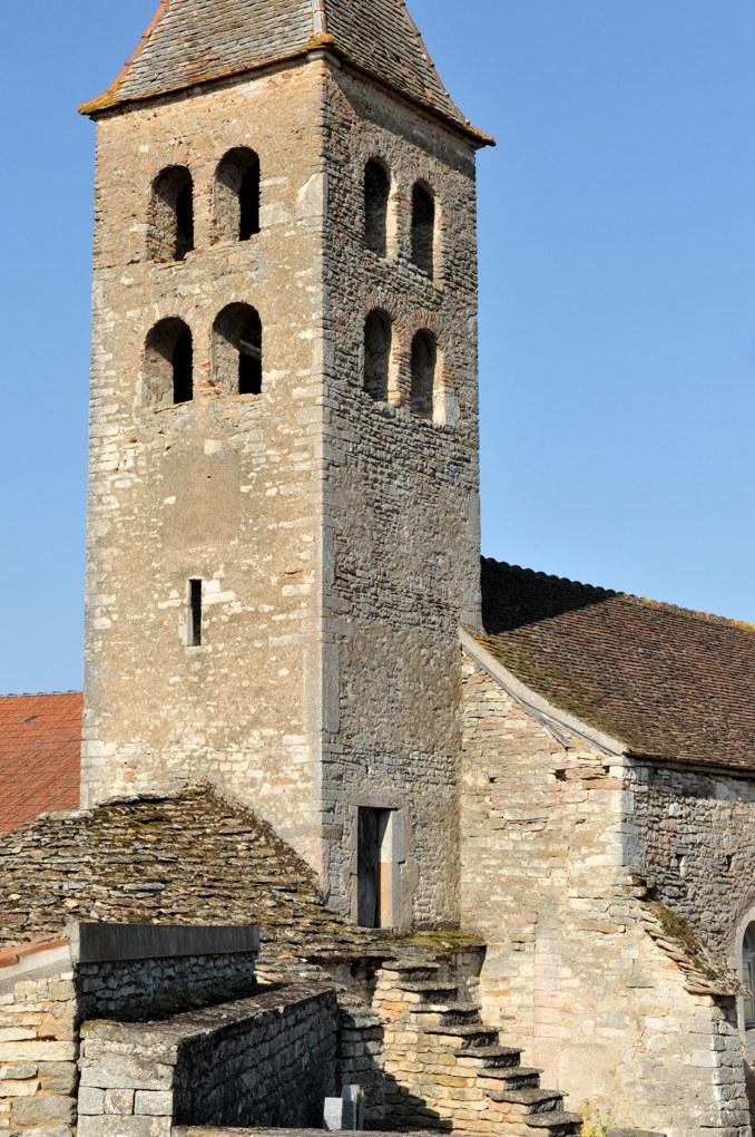 Bresse-sur-Grosne - Eglise Saint-Vincent-et-Saint-Martin de Colombier-le-Haut (1ère moitié du XIIe siècle)