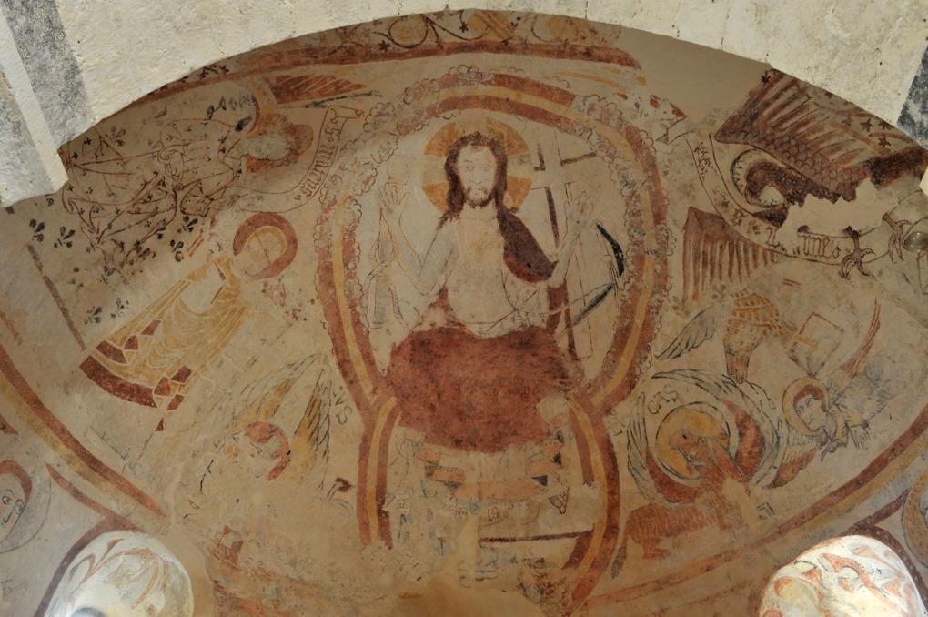 Burnand - Eglise Saint-Nizier : peintures murales (v. 1100-1120)