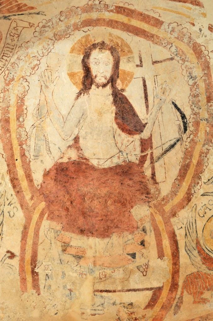 Burnand - Eglise Saint Nizier - Christ en majesté (v. 1100, croix ajoutée au XVe siècle)