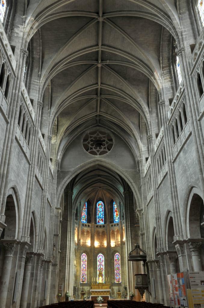 Chalon-sur-Saône - Cathédrale Saint-Vincent - Vue intérieure