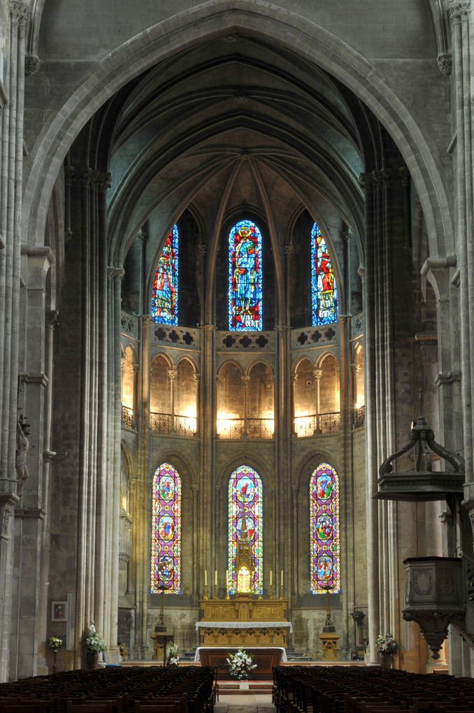 Chalon-sur-Saône - Cathédrale Saint-Vincent - Le choeur des XIIe et XIVe siècle