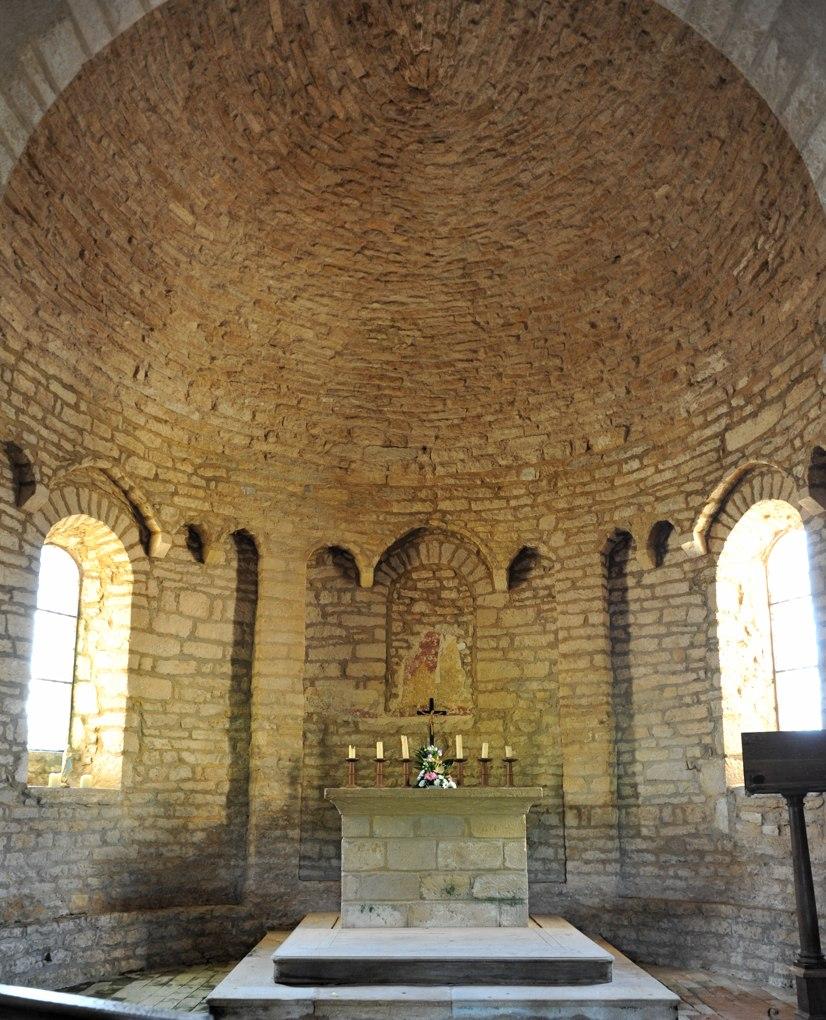 Changy - Eglise Saint-Paul - Abside (début du XIIe siècle)