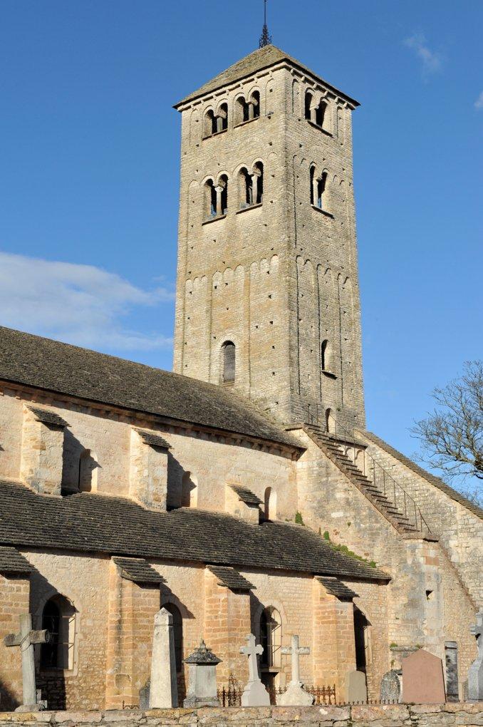 Chapaize - Ancienne église priorale Saint-Martin (XIe-XIIe siècle)