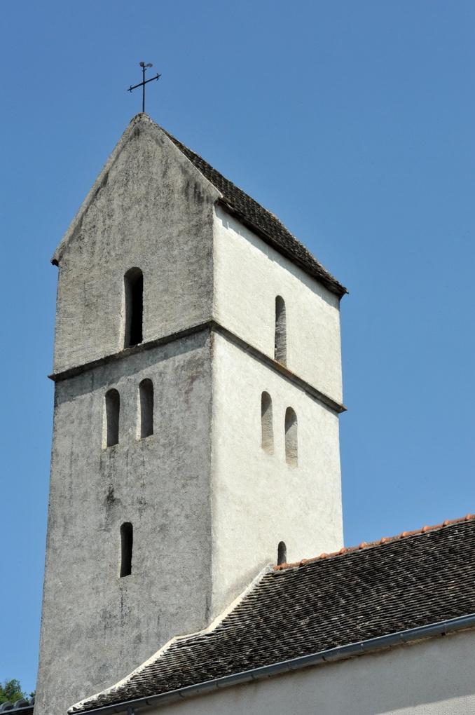 Chassey-le-camp - Eglise Saint-Vincent (XIIe siècle) - Le clocher