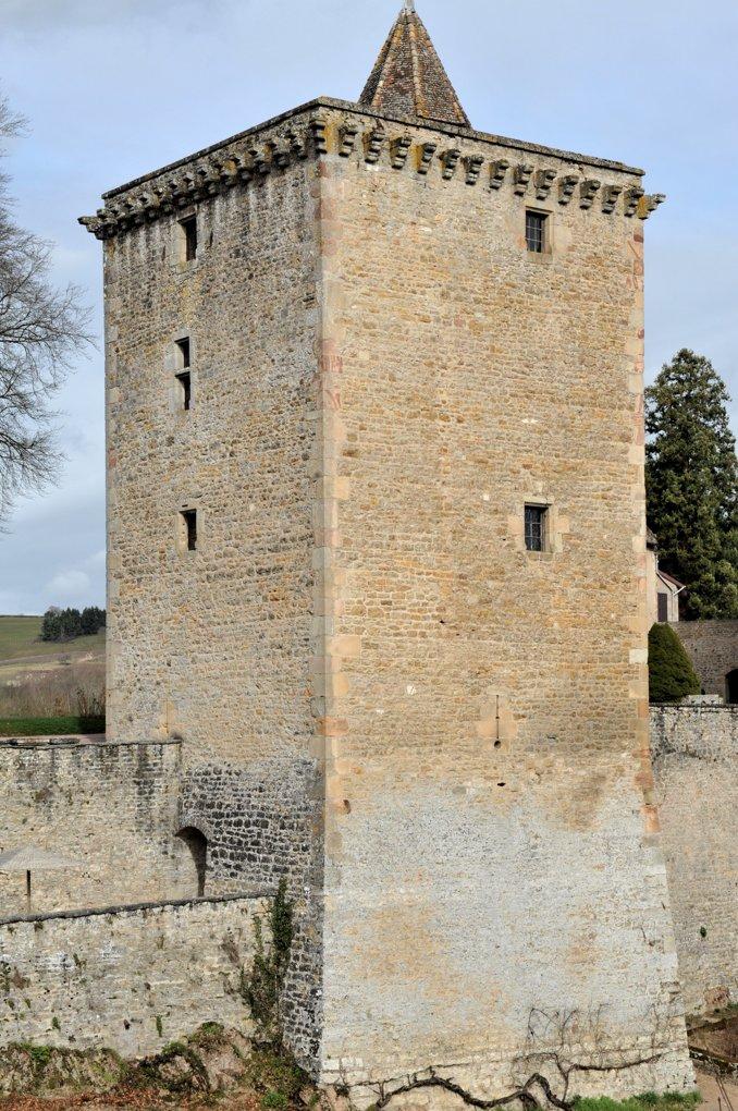 Couches - Le château : donjon (XIIe siècle pour l'essentiel)