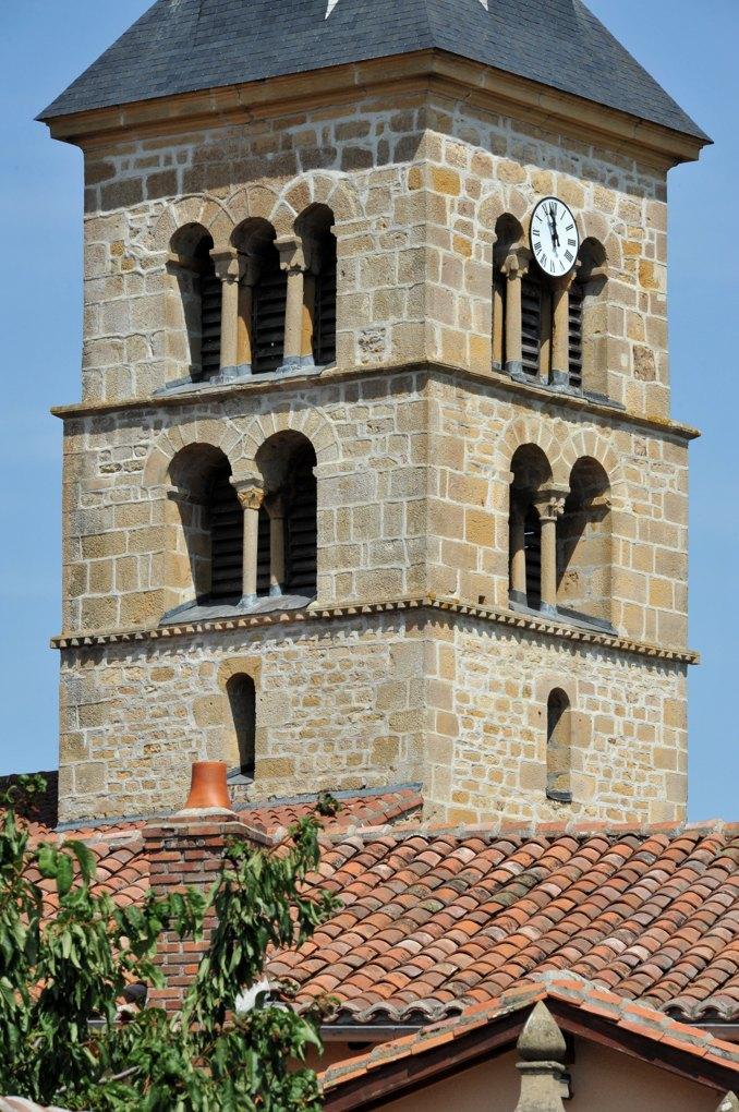 Fleury-la-Montagne - Eglise Saint-Barthélémy (XIIe siècle) - Le clocher