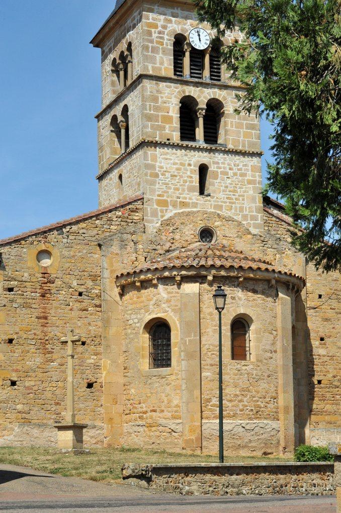 Fleury-la-Montagne - Eglise Saint-Barthélémy (XIIe siècle) - Le chevet