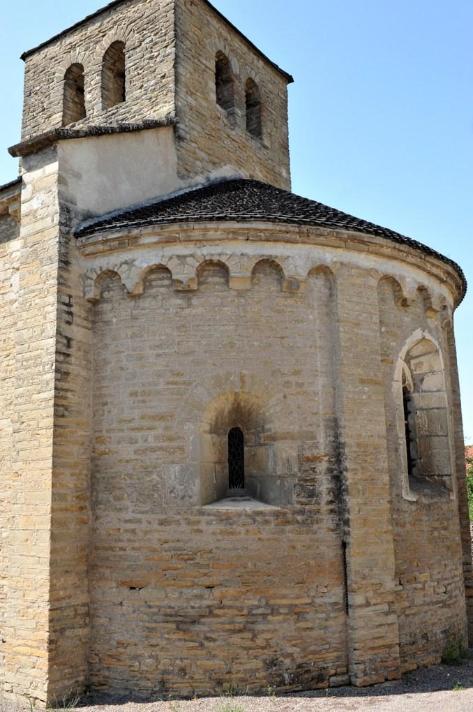 Germagny - Eglise de l'Assomption (XIIe siècle) - L'abside (milieu du XIIe siècle)