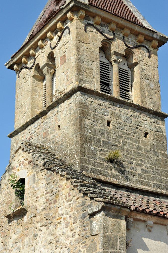 La Chapelle-sous-Dun - Eglise Notre-Dame-de-l'Assomption (XIIe siècle) - Le clocher