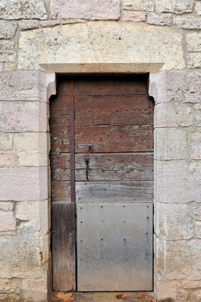 Mercurey - Eglise Saint-Symphorien - Porte (XIIIe siècle) au sud